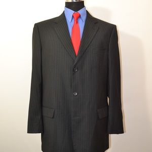 Caravelli 42L Sport Coat Blazer Suit Jacket Black